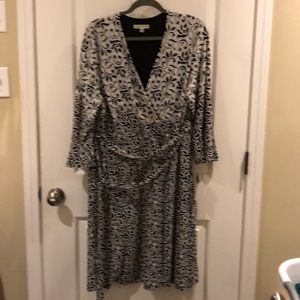 Sandra Darren mock wrap dress NWT